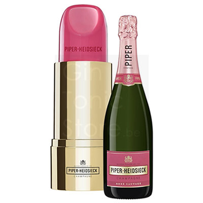 Piper Heidsieck Rose Sauvage 75cl Lipstick Giftbox