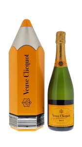 Veuve Cliquot Brut Yellow Label 75cl Pencil Giftbox